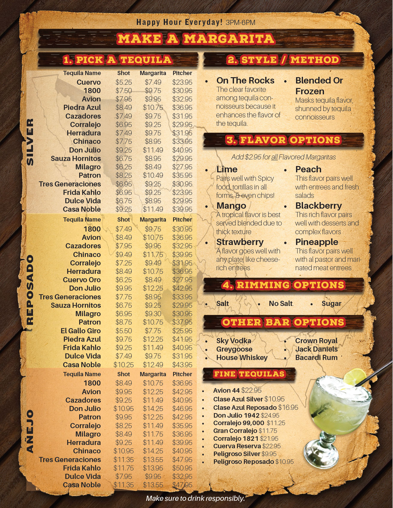 menu-mexican-restaurant-eureka-california-margaritas